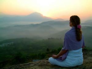 Медитация на вершине горы